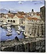 Dubrovnik Walls Canvas Print