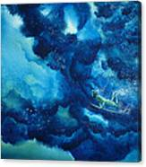 Duck Diver Green Canvas Print