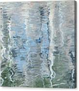 Duck On Pond, Abstract Canvas Print
