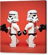 Dueling Troopers Canvas Print