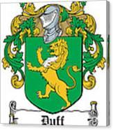 Duff Coat Of Arms Dublin  Canvas Print