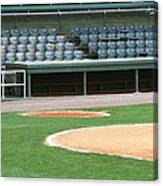 Dugout At The Old Ballpark Canvas Print