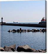 Duluth Harbor Lighthouses  Canvas Print