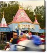 Dumbo Flying Elephants Fantasyland Signage Disneyland 02 Canvas Print