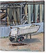 Dump Truck Bin And Steel Mill Canvas Print