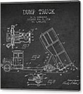 Dump Truck Patent Drawing From 1934 Canvas Print
