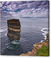 Dun Briste Downpatrick Head  Co Mayo Canvas Print