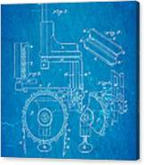Duncan Addressing Machine Patent Art 1896 Blueprint Canvas Print