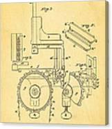 Duncan Addressing Machine Patent Art 1896 Canvas Print