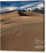 Dunes Ripples And Clouds Canvas Print