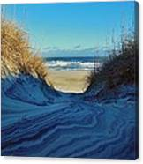 Dunes Sand Art By Mother Nature 2/08 Canvas Print