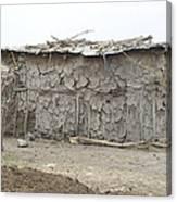 Dung Huts Of The Masai Canvas Print