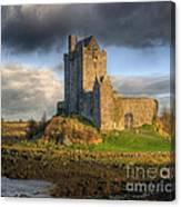 Dunguaire Castle With Dramatic Sky Kinvara Galway Ireland Canvas Print