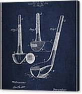Dunn Golf Club Patent Drawing From 1900 - Navy Blue Canvas Print