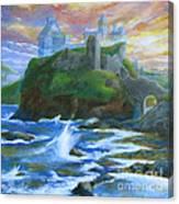 Dunscaith Castle - Shadows Of The Past Canvas Print