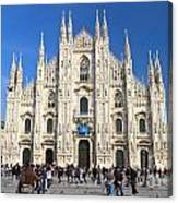 Duomo In Milano. Italy Canvas Print