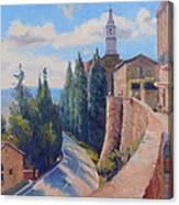 Duomo Pienza Canvas Print