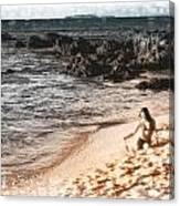 Duotone Beach Scene Canvas Print