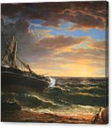 Durand's The Stranded Ship Canvas Print