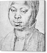 Durer Slave Woman, 1521 Canvas Print