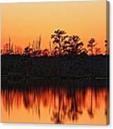 Dusk At Pocosin Lakes Canvas Print
