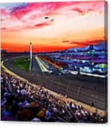 Dusk At The Racetrack Canvas Print