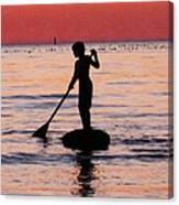 Dusk Float - Sunset Art Canvas Print