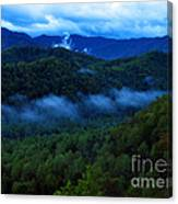 Dusk In The Smoky Mountains   Canvas Print