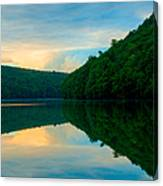 Dusk On Crescent Lake Canvas Print