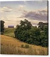 Dusk On The Farm Canvas Print