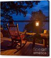 Dusk On The Lake Square Canvas Print
