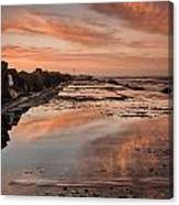Dusk On The North Jetty Canvas Print