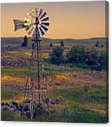 Dusk On The Prairie Canvas Print
