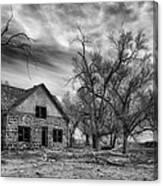 Dust Bowl Era Farm House Canvas Print