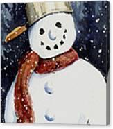 Dustie's Snowman Canvas Print