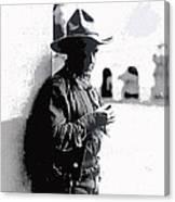 Dustin Farnum On  Set Of Light Of The Western Stars  Las Moros Ranch Southern Arizona 1918-2013  Canvas Print