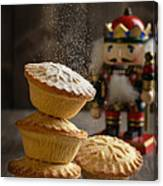 Dusting Mince Pies Canvas Print