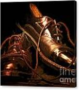 Dusty Dancing Shoes Canvas Print