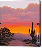 Dusty Sunset Canvas Print
