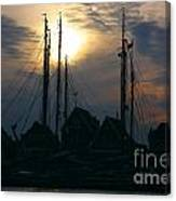 Dutch Harbour By Night Canvas Print