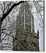 Dutch Reformed Church Tower In Enkhuizen-netherlands Canvas Print