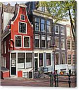 Dutch Style Traditional Houses In Amsterdam Canvas Print