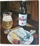 Duvel And Cheese Plate Canvas Print