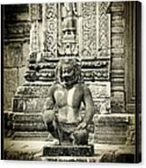 Dvarapala At Banteay Srey Canvas Print