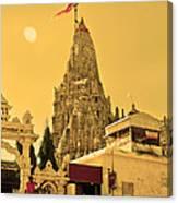 Dwarka Krishna Temple Canvas Print