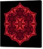 Dying Amaryllis IIi Flower Mandala Canvas Print