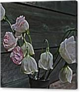 Dying Grieving Flowers Canvas Print