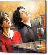 Dylan Moran And Tamsin Greig In Black Books Canvas Print