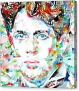 Dylan Thomas - Watercolor Portrait Canvas Print