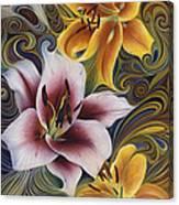 Dynamic Triad Canvas Print